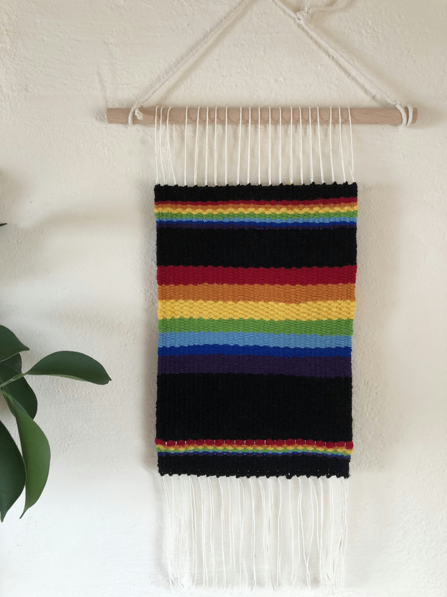 Triple Rainbow Hand Made Tapestry Wall Hanging Home Decor Pride