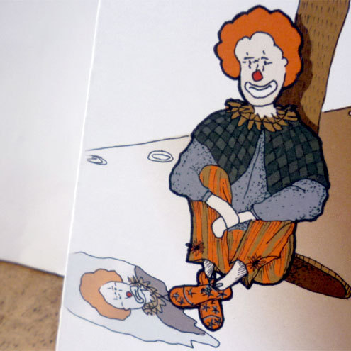 Clown card (sketchbox range)