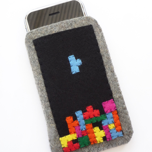 Falling Blocks iPod iPhone Case/Pouch