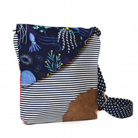 Nautical Travel Handbag, Holiday bags, Travel bag, Handbag, Blue bags