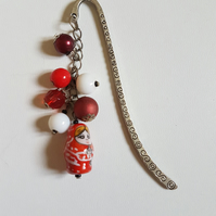 Red Russian Doll Beaded Bookmark