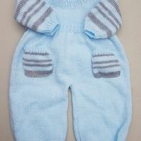 Babies Jumper & Dungaree Set