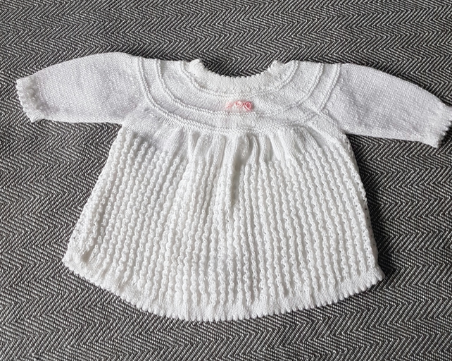 Handknitted White Dress