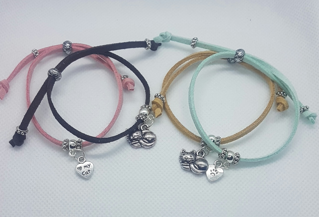 Cat Lover's Friendship Bracelets.