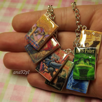 HP Harry Potter mini book charm clasp pendant Hogwarts miniature books 1pc