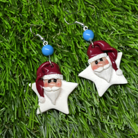 Sweet Christmas Santa Father Christmas earrings with gift for her gift for teen