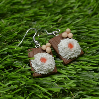 Sweet Christmas BAKING TIME mini flour with eggs earrings