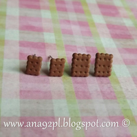 TOTALLY TINY small mini miniature cookie biscuit oat set 2 pairs   digestive