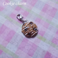 Cute tiny chocolate chip cookie charm lobster clasp sweet kawaii miniature food