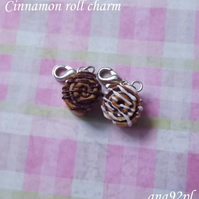Cute tiny chocolate cinnamon roll charm lobster clasp sweet kawaii miniature