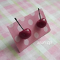 Cherries post stud earrings summer time cute fruit fire red cherry