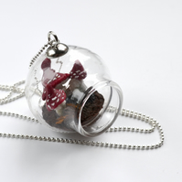 Wearable Terrarium Glass bulb terrarium PlantNecklace Miniature Jewelry Mushroom