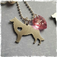 COLLIE Paw Print Necklace Cute Animal Dog Memorial jewelry Pet Lover