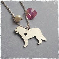 Bernese Mountain Paw Print Necklace Cute Animal Dog Memorial jewelry Pet Lover