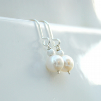 Pearl Earring and Necklace set, Custom Listing for Alison