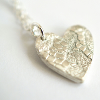 Lace Heart pendant - gift for her
