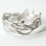 Hedgerows silver branches ring