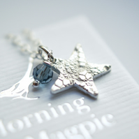Lace Star Necklace - birthday - anniversary gift