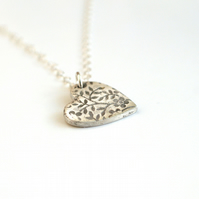 Secret Garden Heart Necklace -gift for her