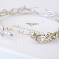 Hedgerows Silver Bangle - gift for her