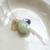 Pastel Cluster Necklace - SALE