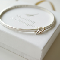 Personalised bangle hand stamped for a New Mum