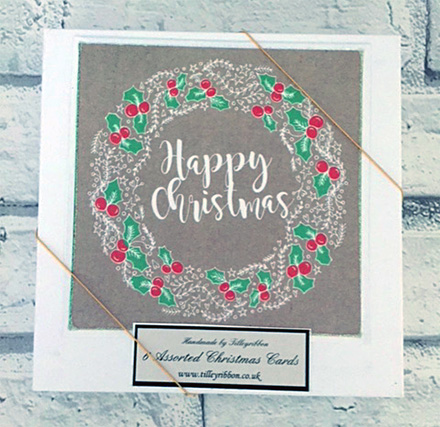 6 x Assorted Nordic Style Christmas Cards