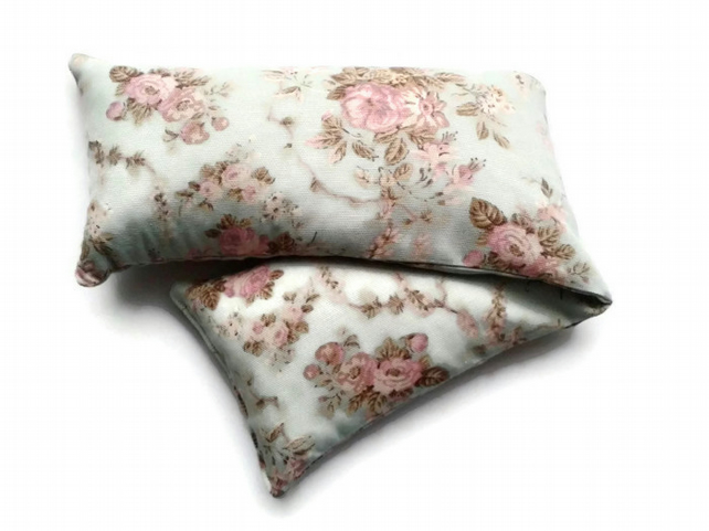 warming extra large lavender wheat bag in cotton floral blossom fabric
