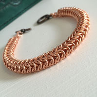 Copper Chainmaille Bracelet for Men,