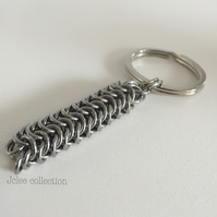 Chunky Stainless Steel Keyring for Men, Male Gifts