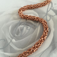 Copper Byzantine Bracelet for Women, Her Anniversary Gift