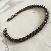 Women's Delicate Antique Copper Bracelet Skinny Stacking Bracelet Spiral Bangle