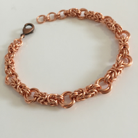 Copper Byzantine Love Knot Bracelet - Copper Anniversary Gift Idea.