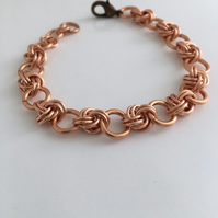 Copper Infinity Bracelet, Copper Anniversary Gift for Her