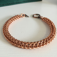 Mens Copper Bracelet, Full Persian Rope Style Celtic Bracelet
