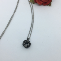 Iron Infinity Love Knot Necklace 6th Anniversary Gift Idea for Her.