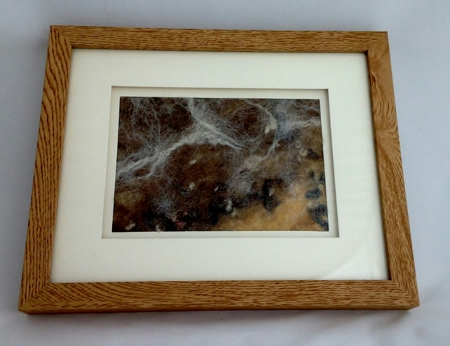 "A wet felted picture entitiled ""Reconciliation"""