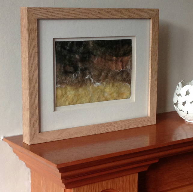 "A wet felted picture entitled ""Reunion"""