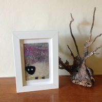 Felted picture of a sheep
