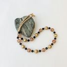 Bronze, brown and black beaded necklace.