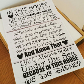 Disney Inspired House Rules Plaque