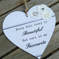 Every Love Story is Beautiful Hanging Heart