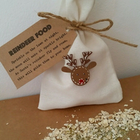 Personalised Reindeer Food Bag