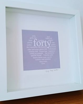 Personalised Special Birthday Framed Print