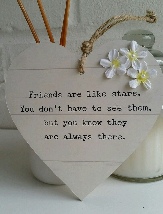 Friends are like stars - Hanging heart
