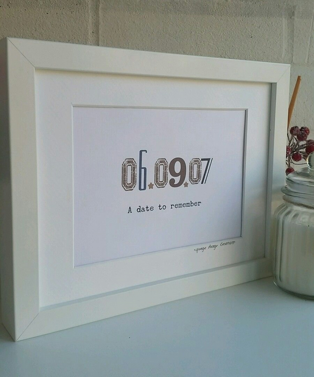 Personalised A Date to Remember Framed Print