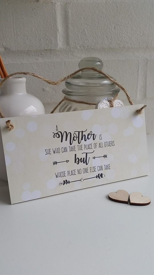 Mother's Quote Wooden Plaque