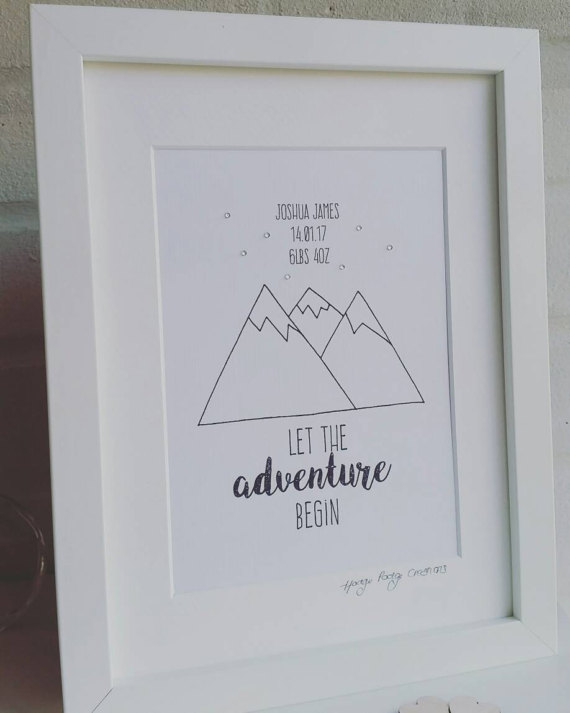 Let the Adventure Begin - Framed Print Can be personalised
