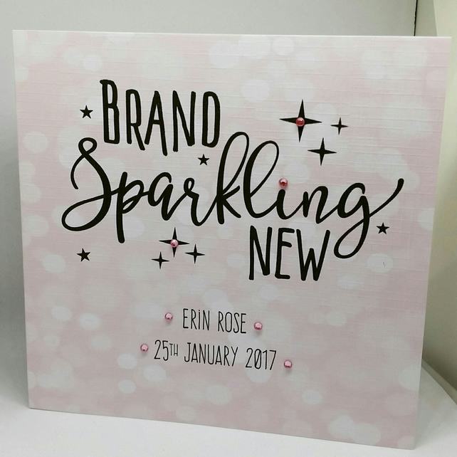 Brand Sparkling New - New Baby Card