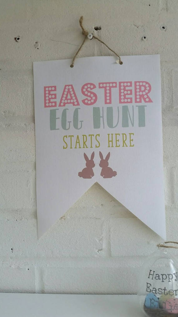 Easter Egg Hunt Starts Here - Canvas Flag